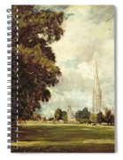 Salisbury Cathedral From Lower Marsh Close Spiral Notebook