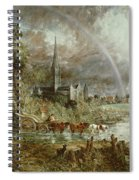 Salisbury Cathedral From The Meadows Spiral Notebook