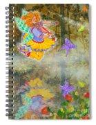 Salmonberry Fairy Merri Goldentree Spiral Notebook