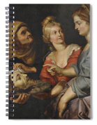 Salome With The Head Of St. John The Baptist Spiral Notebook