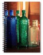 Saloon Bottles Spiral Notebook