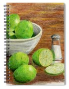 Salt And Lime Spiral Notebook