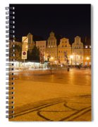 Salt Square In Wroclaw At Night Spiral Notebook