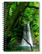 Salto Do Prego Waterfall Spiral Notebook