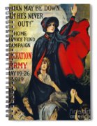 Salvation Army Poster, 1919 Spiral Notebook