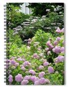 Pink Hydrangeas In Mirabell Garden Spiral Notebook