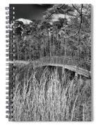 Sam Houston Jones State Park Bridge Bw Spiral Notebook