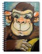 Sam The Monkey Spiral Notebook