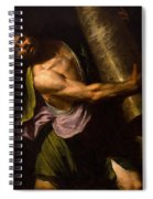 Samson In The Temple Spiral Notebook