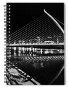 Samuel Beckett Bridge 5 Bw Spiral Notebook