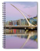 Samuel Beckett Bridge At Dusk Spiral Notebook