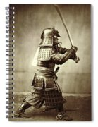 Samurai With Raised Sword Spiral Notebook