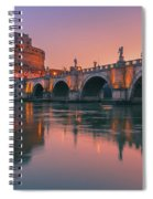 San Angelo Bridge And Castel Sant Angelo Spiral Notebook