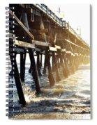 San Clemente Pier Magic Hour Spiral Notebook