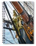 San Diego Embarcadero - Hms Surprise Figurehead Spiral Notebook