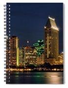 San Diego Night Spiral Notebook