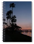 San Diego Sunset With Palm Trees Spiral Notebook