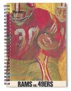 San Francisco 49ers Vintage Program 2 Spiral Notebook