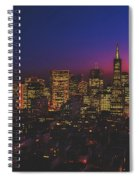 San Francisco At Sunset Spiral Notebook
