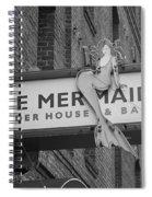 San Francisco Blue Mermaid Bw Spiral Notebook