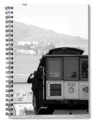 San Francisco Cable Car With Alcatraz Spiral Notebook