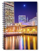 San Francisco Downtown City Skyline At Night Spiral Notebook