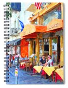 San Francisco North Beach Outdoor Dining Spiral Notebook