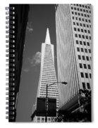 San Francisco - Transamerica Pyramid Bw Spiral Notebook
