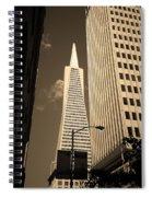 San Francisco - Transamerica Pyramid Sepia Spiral Notebook
