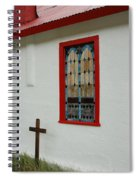 San Iglesia Church Window Spiral Notebook