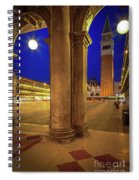 San Marco At Night Spiral Notebook