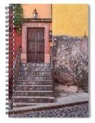 San Miguel Steps And Door Spiral Notebook