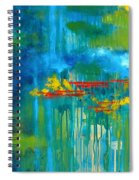Sanctuary Abstract Painting Spiral Notebook