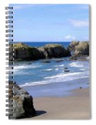 Sand And Sea 11 Spiral Notebook