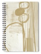 Sand And Stone 2- Contemporary Abstract Art By Linda Woods Spiral Notebook