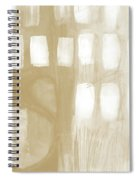 Sand And Stone 4- Contemporary Abstract Art By Linda Woods Spiral Notebook
