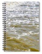 Sand Beach And Wave 4 Spiral Notebook