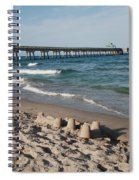 Sand Castles And Piers Spiral Notebook