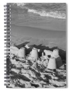 Sand Castles By The Shore Spiral Notebook