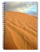 Sand Dune At Great Sand Hills In Scenic Saskatchewan Spiral Notebook