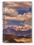 Sand Dunes - Mountains - Snow- Clouds And Shadows Spiral Notebook