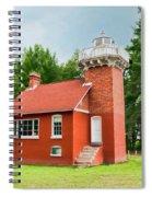 Sand Point Lighthouse - Baraga Spiral Notebook