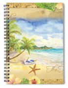 Sand Sea Sunshine On Tropical Beach Shores Spiral Notebook