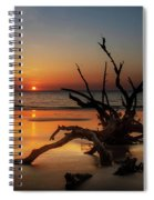 Sand Surf And Driftwood Spiral Notebook