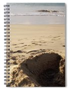 Sandcastle On The Beach, Hapuna Beach Spiral Notebook