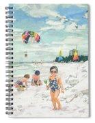 Sandcastles On Siesta Key Public Beach Spiral Notebook