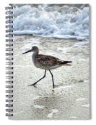 Sandpiper Escaping The Waves Spiral Notebook