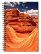 Sandstone Waves And Clouds Spiral Notebook