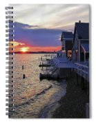 Sandy Neck Sunset At The Cottages Spiral Notebook