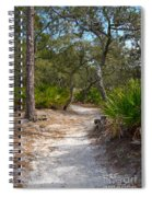 Sandy Path In Hunting Island South Carolina Spiral Notebook